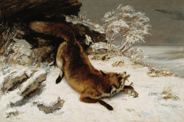 Gustave Courbet. Fox in the snow