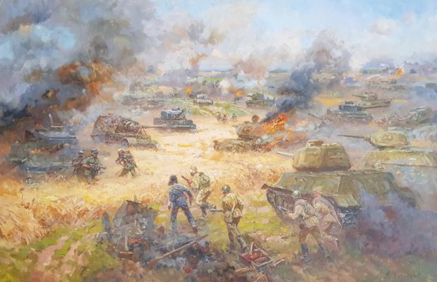 "Aleksandr Chagadaev. The battle of Prokhorovka. ""Kursk Bulge"""