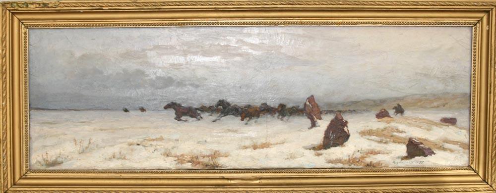 Yuri Ivanovich Khudonogov. Steppe herd. Khakassia