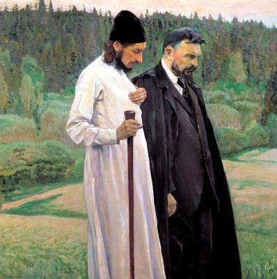Mikhail Vasilyevich Nesterov. Philosophers (S. N. Bulgakov and P. A. Florensky)