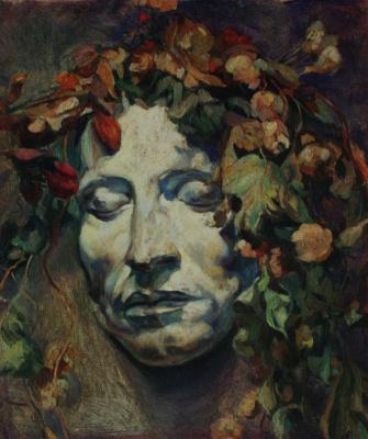 """Nikolay Ivanovich Shestopalov. """"The Mask Of Pushkin"""" 1915"""