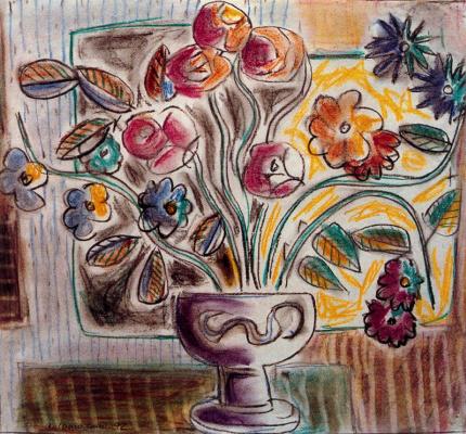 Антонио Кано Корреа. Цветы в вазе