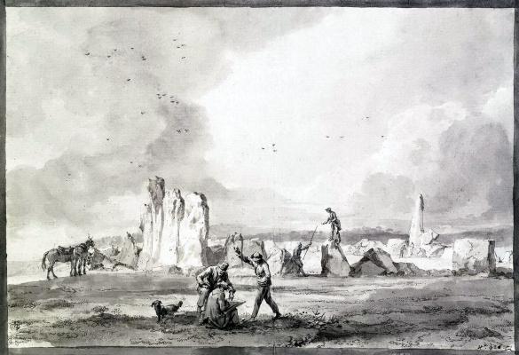 Руины древнего сооружения из гигантских камней