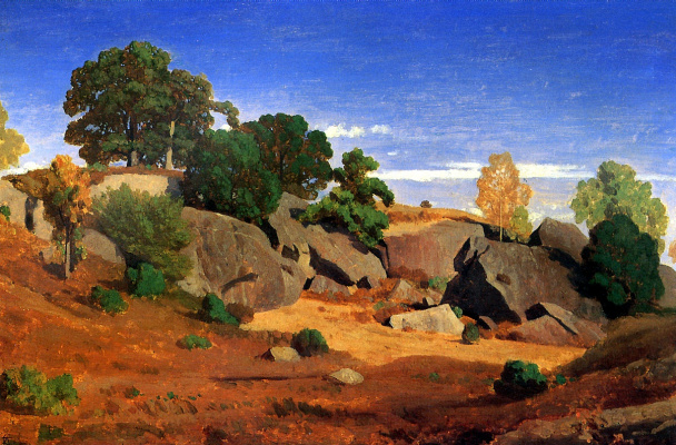 Theodore, Caruel D aligny. Rocks at Fontainebleau