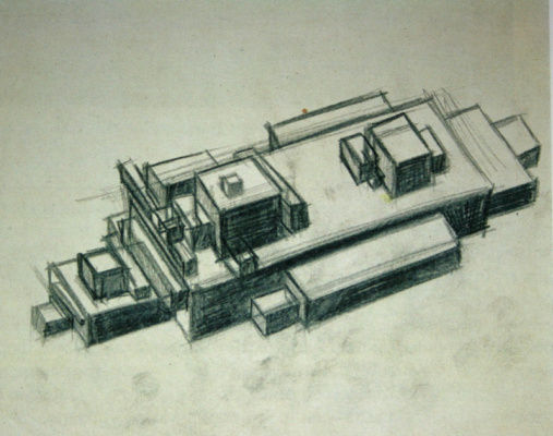 Ilya Grigorievich The chashnikov. Suprematist architecture. Sketch