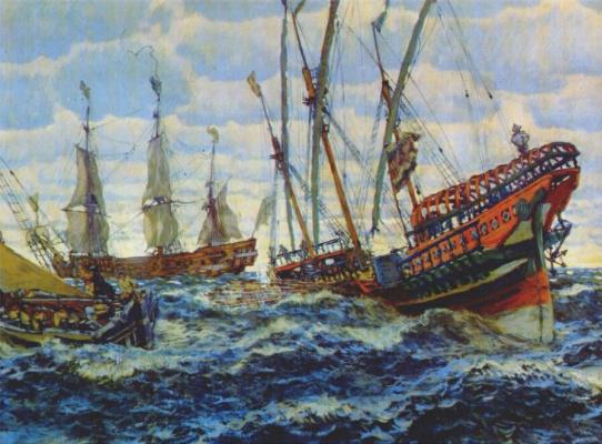 Evgeniy Evgenievich Lansere. The ship