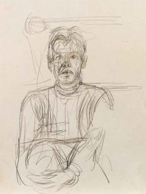 Альберто Джакометти. Портрет неизвестного мужчины, держащегося за колено
