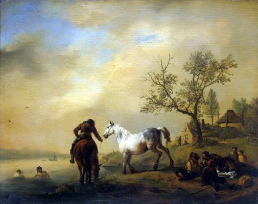 Филипс Вауверман (Воуверман). Лошади на водопое