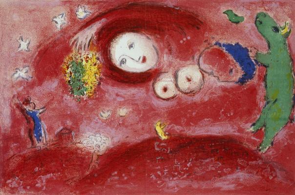 Марк Захарович Шагал. Весна на лугу