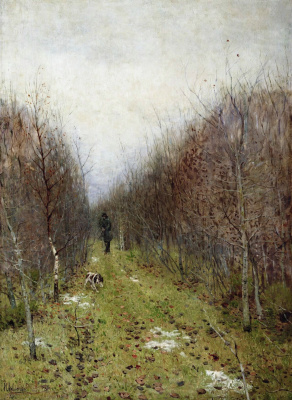 Isaac Levitan. Autumn. Hunter