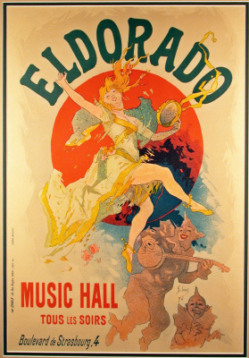 "Jules Chere. Poster of the concert-cafe ""Eldorado"""
