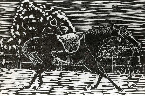 Lucien Freud. Horse