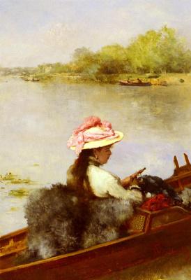 Фердинанд Гейльбют. На озере