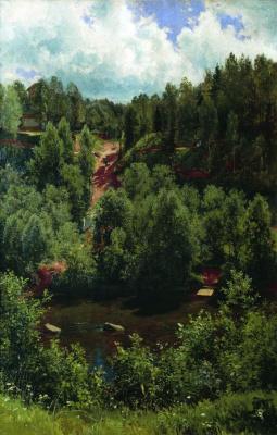 Иван Иванович Шишкин. После дождя. Этюд леса