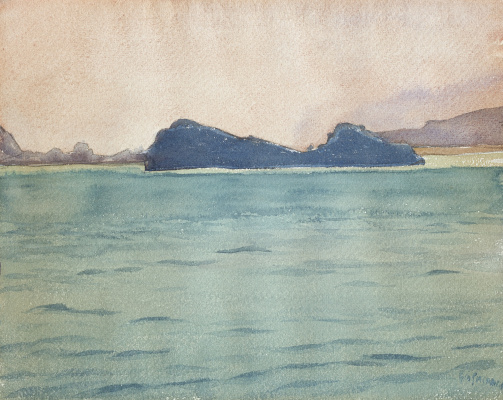 Giovanni Giacometti. View at lake Sils