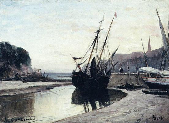 Alexey Petrovich Bogolyubov. Low tide in Pornic