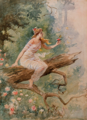 Charles Marion Russell. Forest Nymph