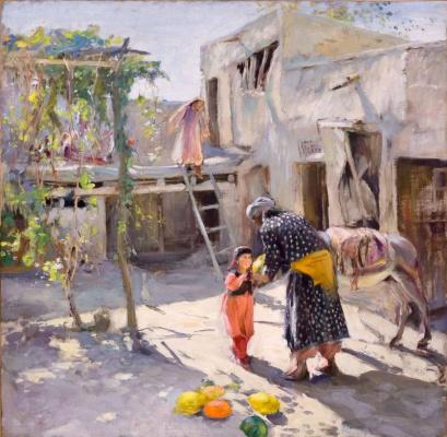 Pavel Petrovich Benkov. Courtyard