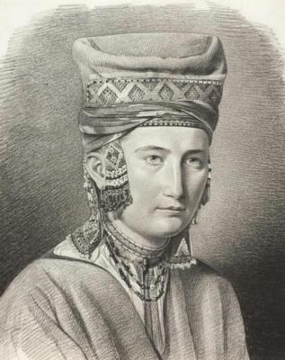 Maria Alekseevna Polenova (Voeikova). Peasant woman of the Tambov province