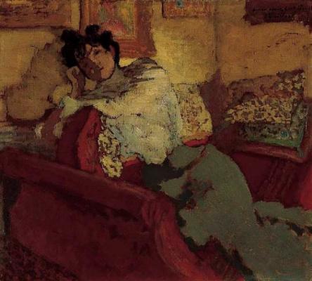 Jean Edouard Vuillard. Portrait Of Lucy Hessel