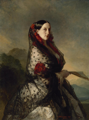 Franz Xaver Winterhalter. Portrait of Grand Duchess Maria Nikolaevna