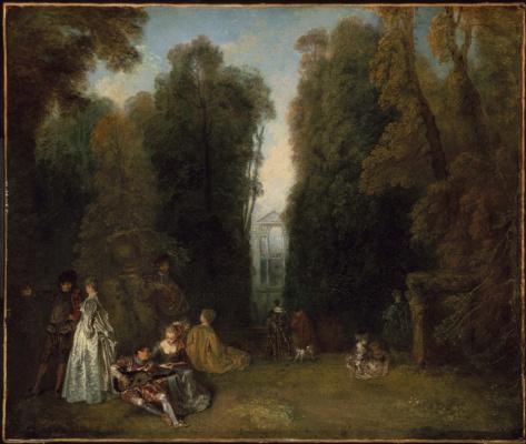 Antoine Watteau. Perspective