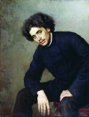 Nikolay Aleksandrovich Yaroshenko. Portrait of a young man. 1886