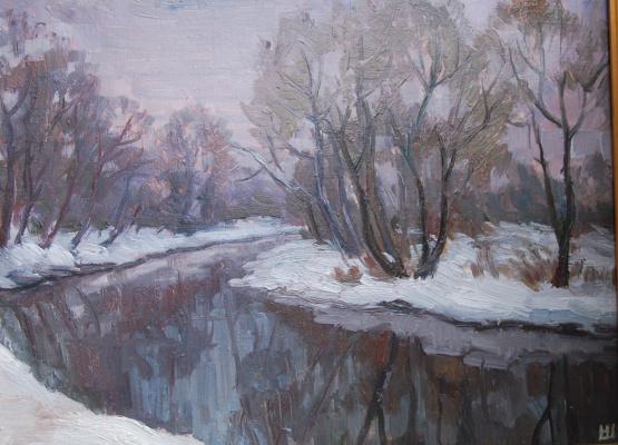 Nadezhda Georgievna Shatskaya. Istra river in winter