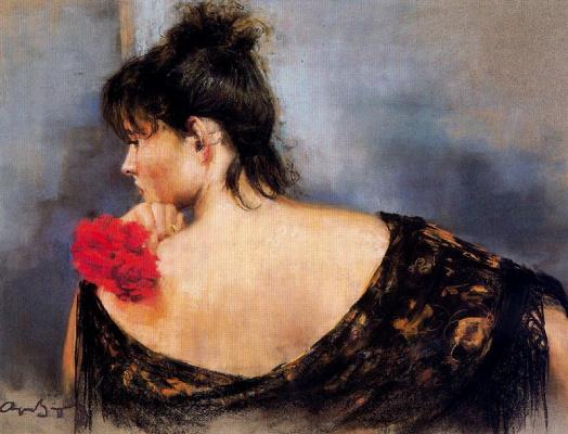 Каэтано де Аркер Буигас. Красные цветы