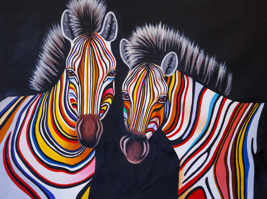Christina Viver. Multicolored Zebra N6