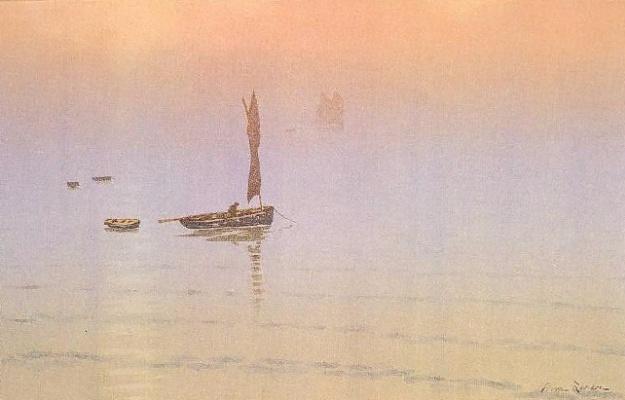 Анри (Henri) Ривьер (Rivière). Морской туман (Brume en Mer)