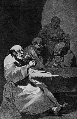 "Francisco Goya. ""Hot"" (Series ""Caprichos"", page 13)"