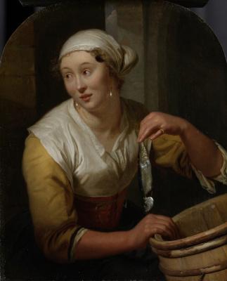 Godfree Schalken. The saleswoman herring