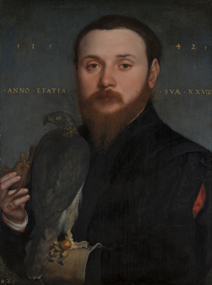 Hans Holbein The Younger. Portrait of a Nobleman with a Falcon