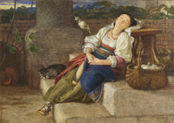 Frederick William Burton. Fatigue