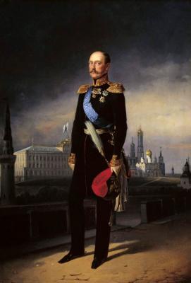 Егор Иванович Ботман. Портрет императора Николая I