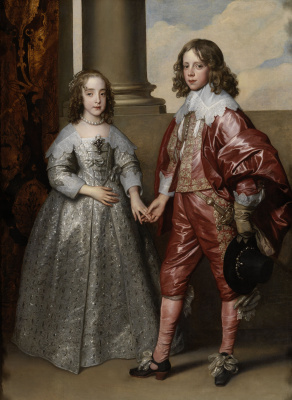 Anthony van Dyck. Portrait of William of orange and his bride Mary Stuart