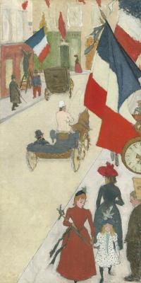 Pierre Bonnard. Paris. The Bastille day