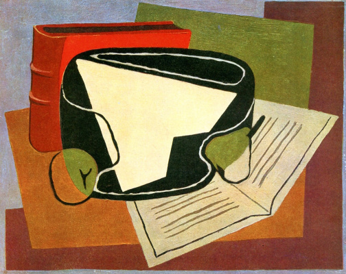 Juan Gris. Book and fruit bowl