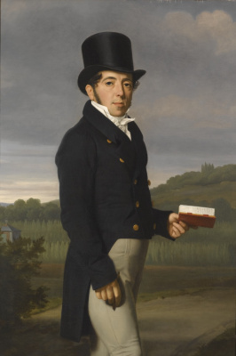 Jean Auguste Dominique Ingres. Portrait of a gentleman with a book