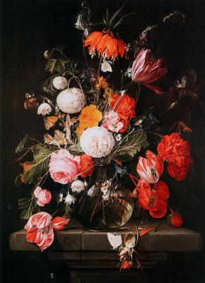 Корнелис де Хем. Цветы в вазе