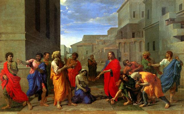 Никола Пуссен. Христос и грешница