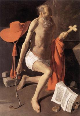 Georges de La Tour. The Penitent Saint Jerome