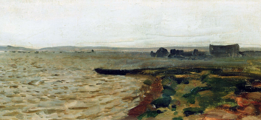 Isaac Levitan. The river