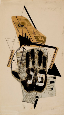 "El Lissitzky. ""A ticket for the ship"". Illustration to the novel by Ilya Ehrenburg ""6 easy tips"""