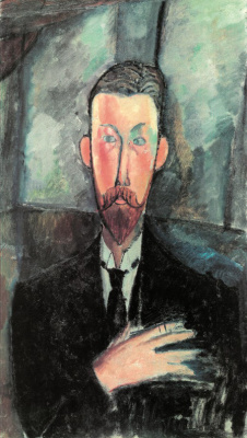 Amedeo Modigliani. The portrait of Paul Alexander in front of the window