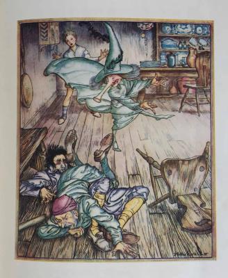 """Arthur Rackham. Illustration for the fairy tale """"The King of the Golden River"""""""