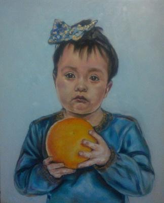 Alastair MacWizard. Girl with orange