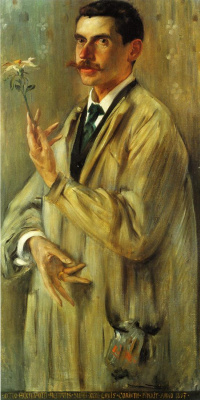 Ловис Коринт. Портрет художника Отто Экмана