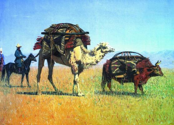 Vasily Vasilyevich Vereshchagin. The migrations of the Kirghiz